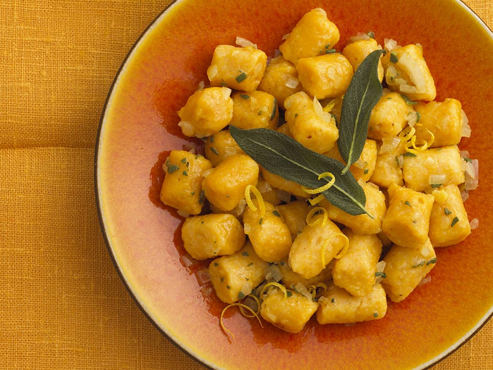 Pumpkin Gnocchi With Butter And Sage Sauce Recipe ...