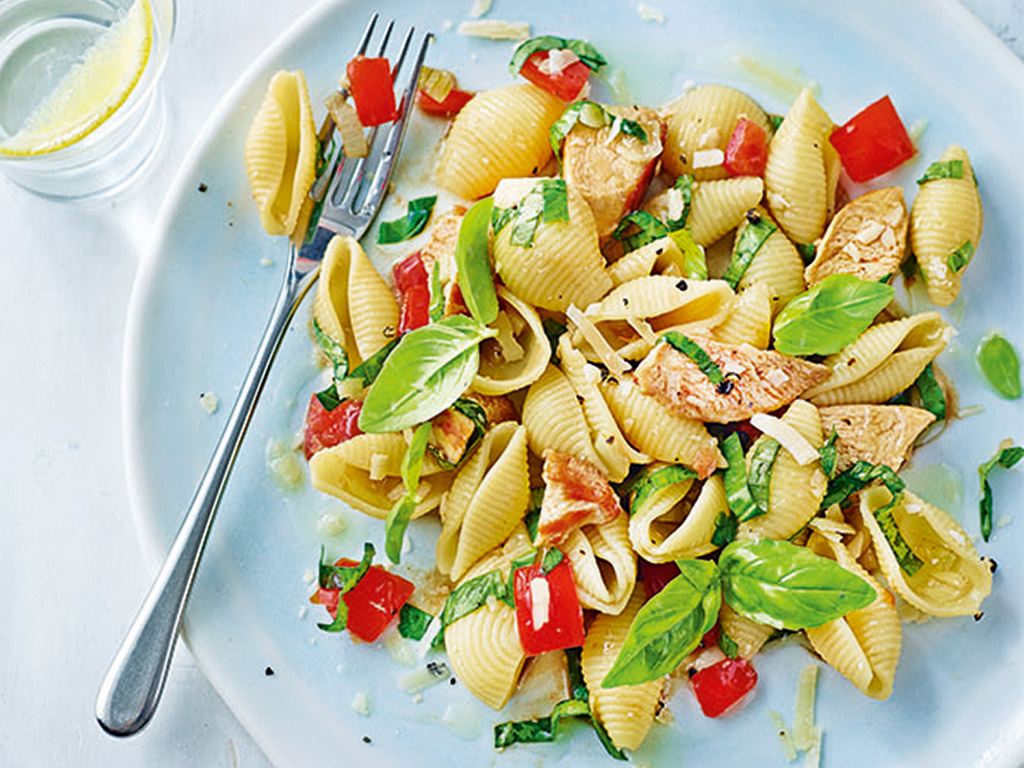 chicken and basil pasta recipe by annabel karmel