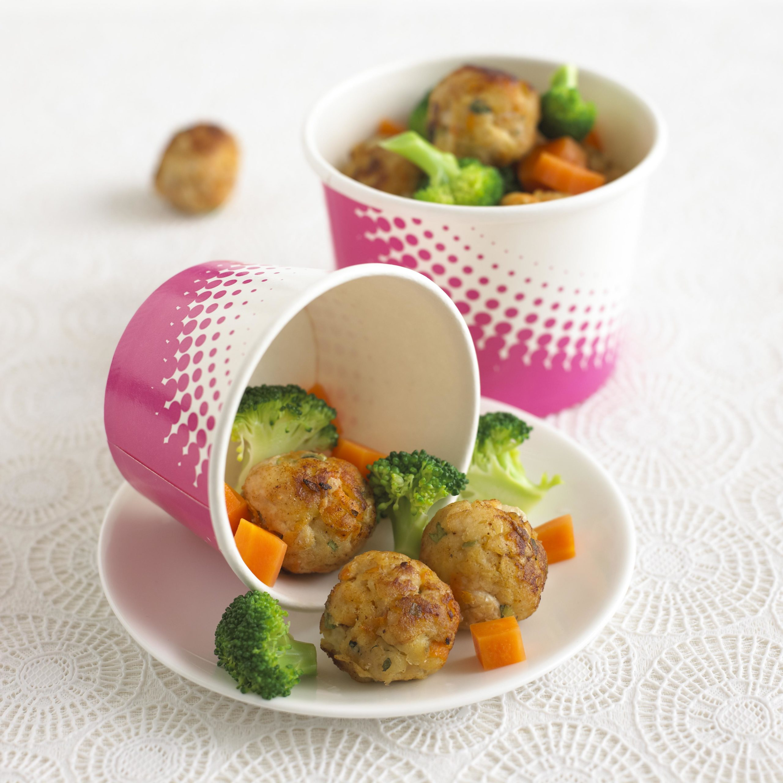 Mini Chicken Balls with Apple & Carrot Recipe by Annabel Karmel