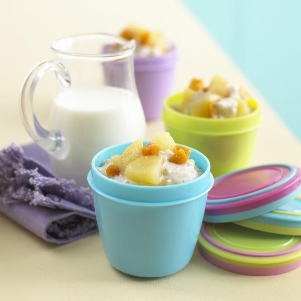 Porridge with Apple, Pear & Apricot recipe by Annabel Karmel