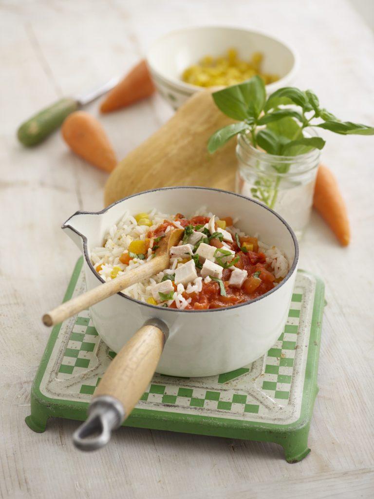 Tasty Chicken & Rice recipe by Annabel Karmel