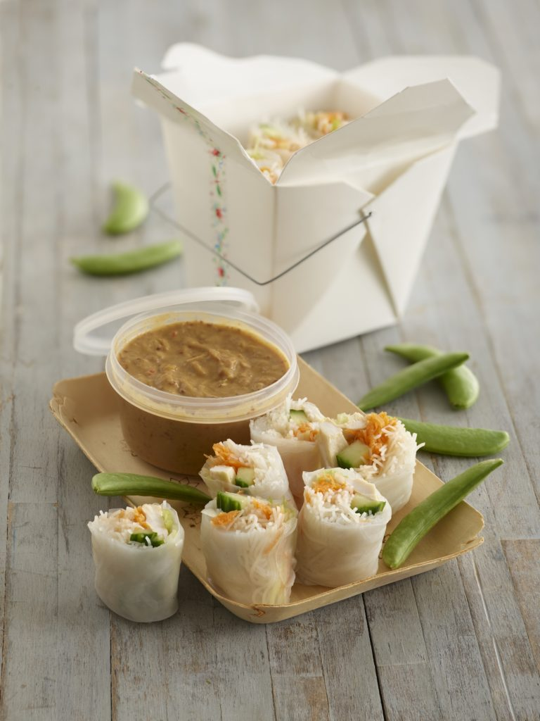 Vietnamese Rice Paper Rolls with Chicken recipe by Annabel Karmel