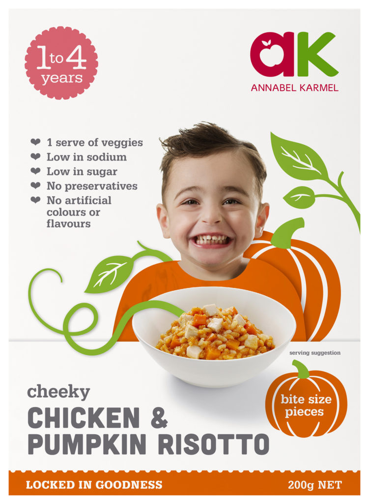Chicken & Pumpkin Risotto Snap-frozen meal for babies and toddlers by Annabel Karmel