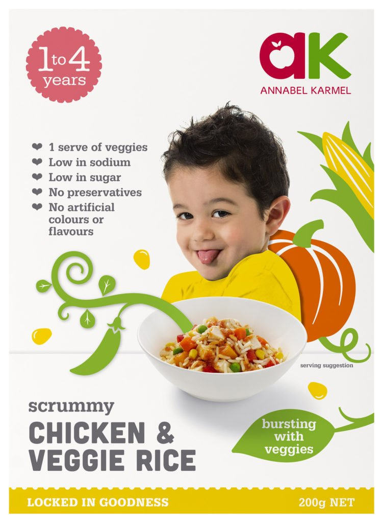 Chicken & Veggie Rice Snap-Frozen meals for babies and toddlers by Annabel Karmel