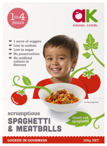 Scrumptious Spaghetti & Meatballs snap-frozen meal for babies and toddlers by Annabel Karmel