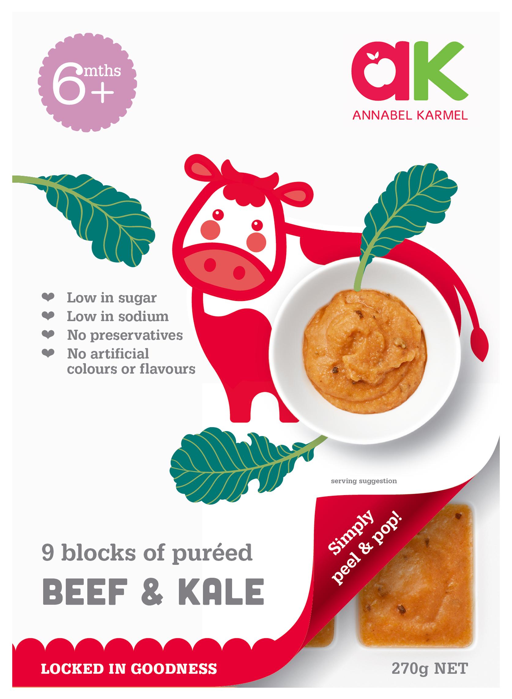 Beef with Kale Vegetables Stage 2 Annabel Karmel