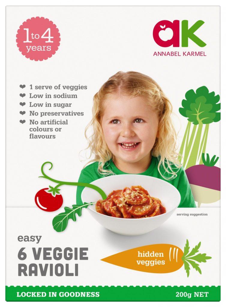 Six Veggie Ravioli Snap-frozen meal by Annabel Karmel