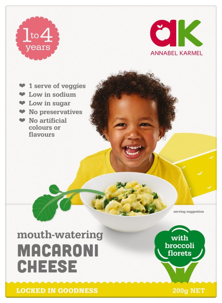 Macaroni Cheese Snap-frozen meal for babies and toddlers by Annabel Karmel