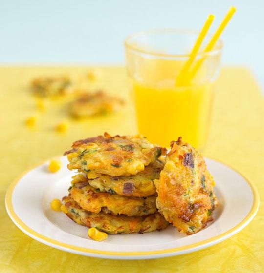 Broccoli & Sweetcorn Fritters Recipe by Annabel Karmel
