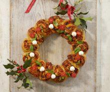 Christmas Pizza Wreath