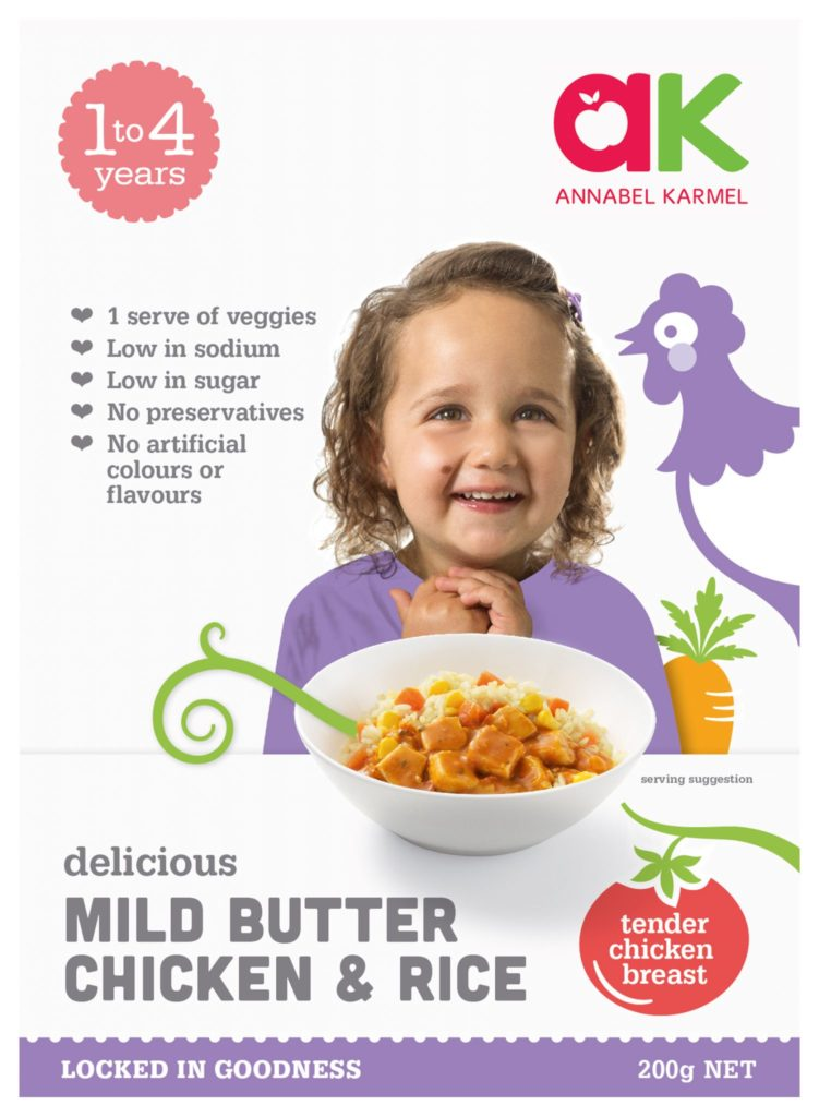 Delicious Mild Butter Chicken & Rice ready meal for babies and toddlers by Annabel Karmel