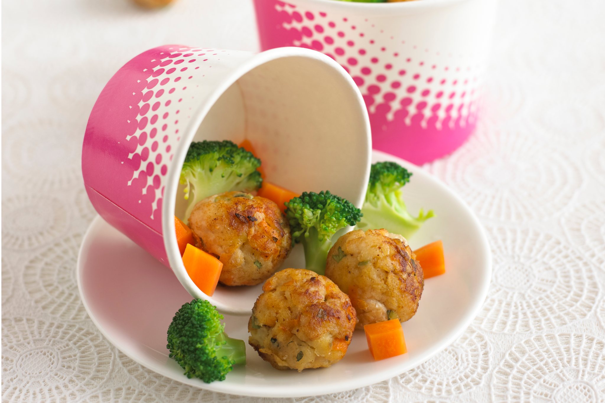 mini chicken balls with apple and carrot recipe by annabel karmel