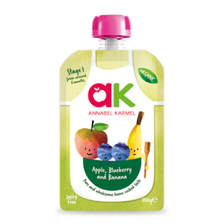 organic apple, blueberry and banana puree product annabel karmel