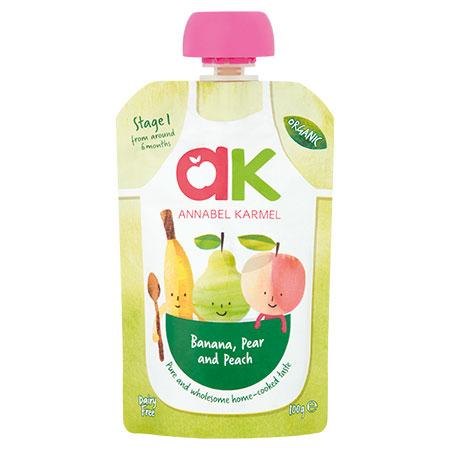 Organic Banana, Pear and Peach Puree by Annabel Karmel