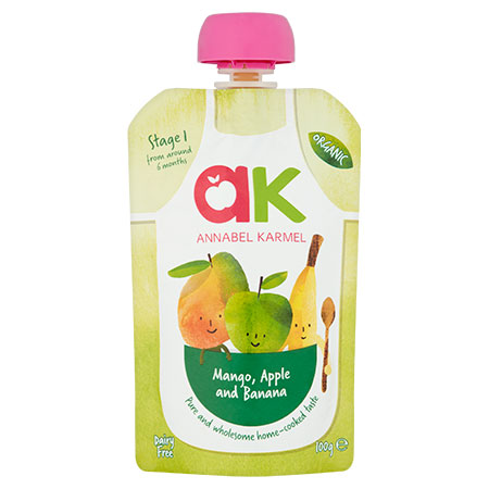 Organic Mango, Apple and Banana Puree by Annabel Karmel