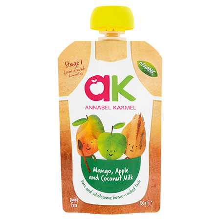 Organic Mango, Apple, & Coconut Milk Purree