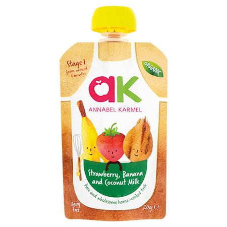 Organic Strawberry, Banana & Coconut Milk Puree by Annabel Karmel
