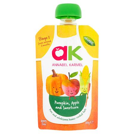 Organic Pumpkin, Apple and Sweetcorn Puree