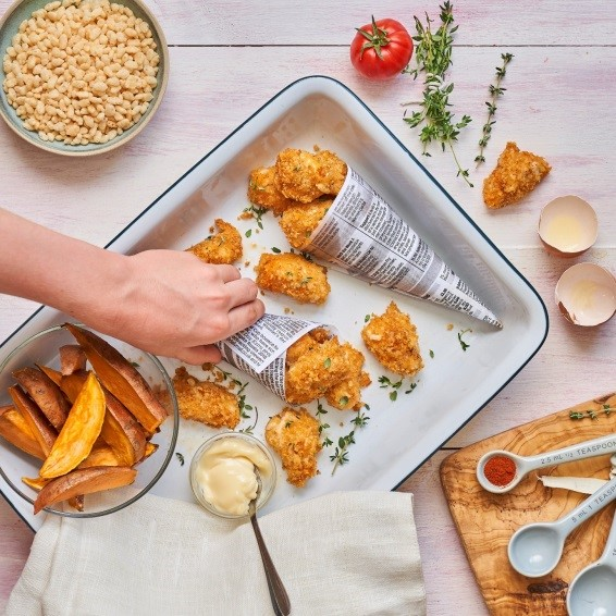 Oven Baked Chicken Nuggets Recipe Image by Annabel Karmel