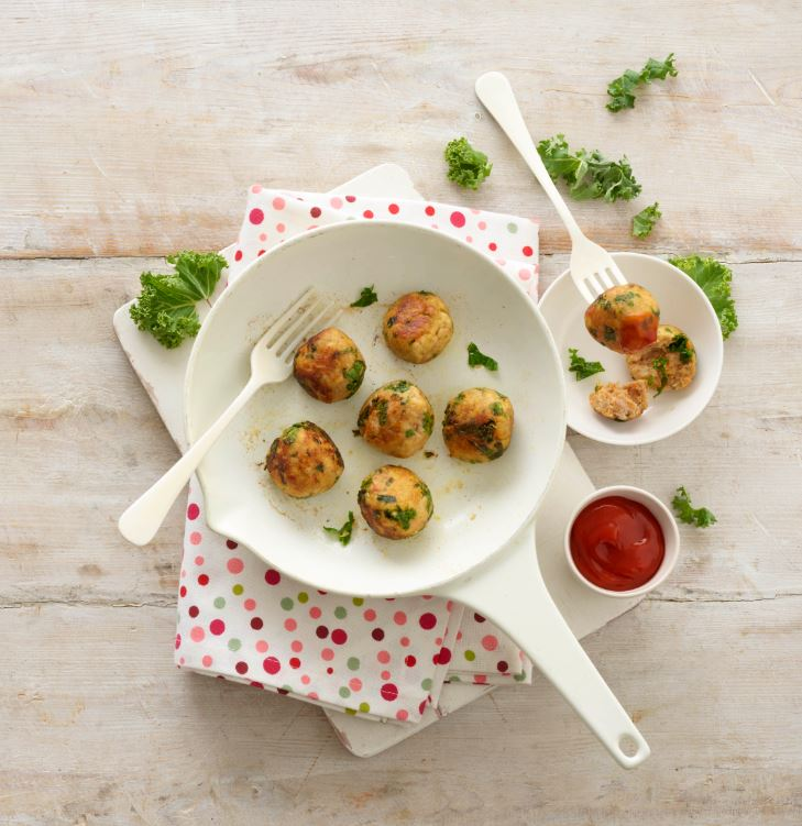 chicken and kale balls recipe by annabel karmel
