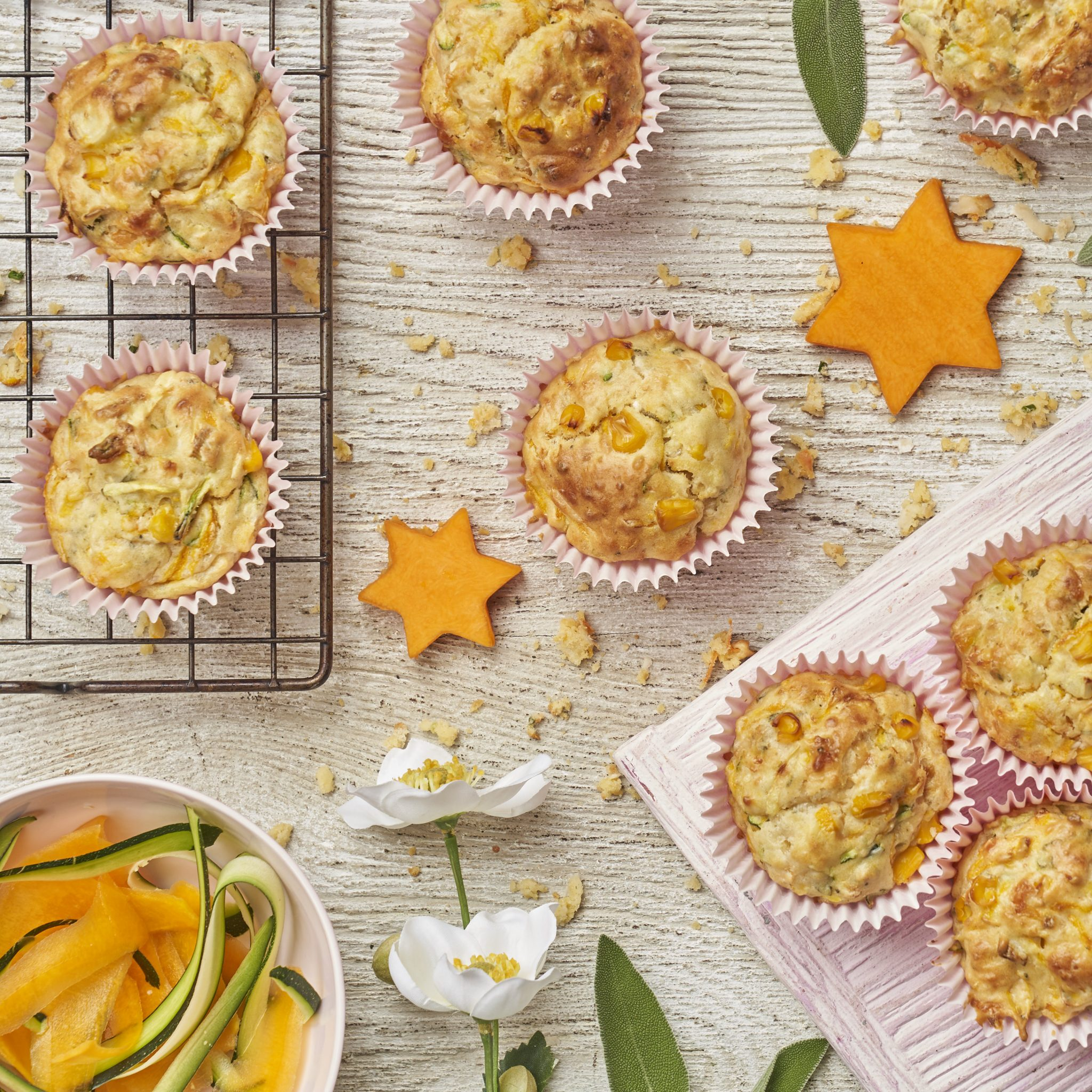 carrot and cheese muffins recipe by Annabel Karmel