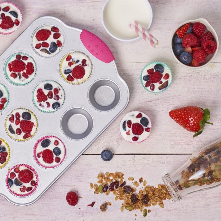Frozen Yogurt & Granola Bites Recipe by Annabel Karmel
