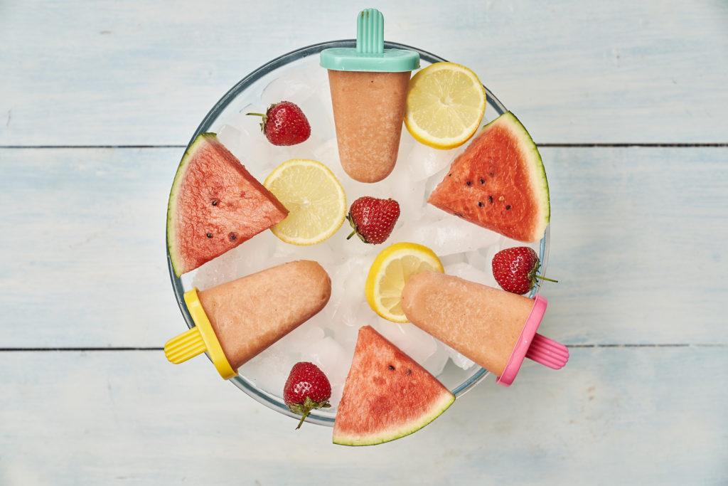 Watermelon, Mango & Banana Lollies Recipe by Annabel Karmel