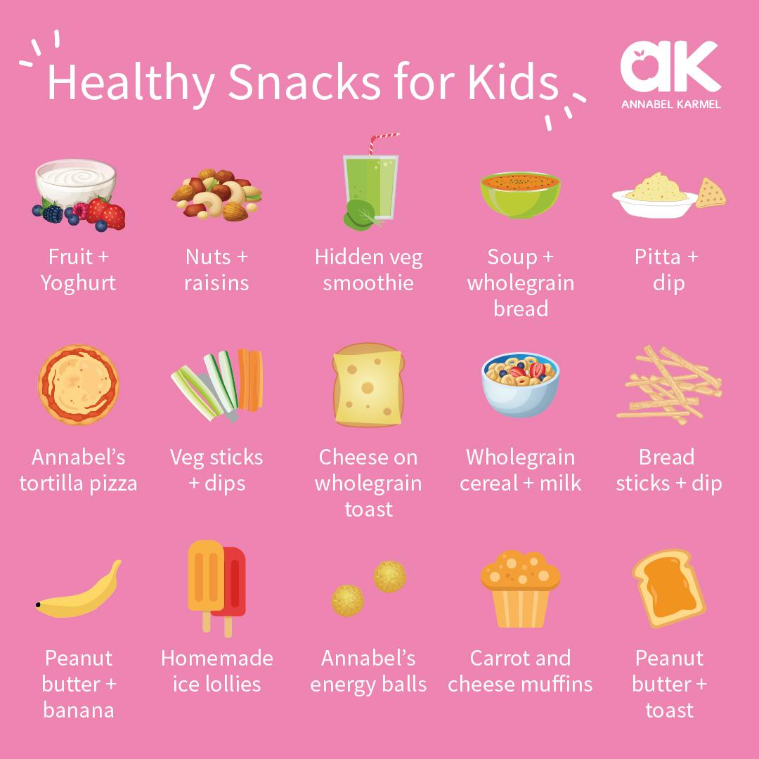 healthy snacks for kids ideas by annabel karmel