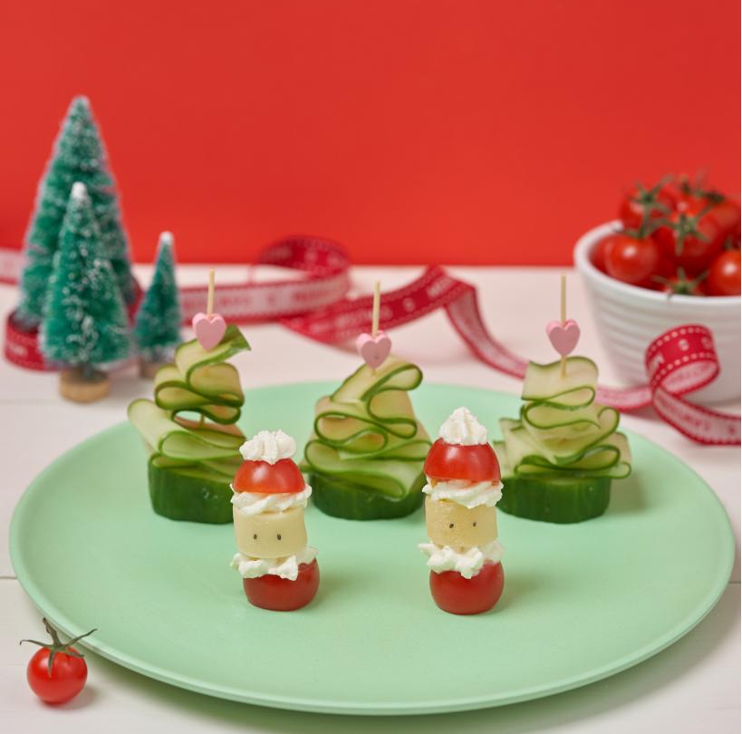 Piccolo Cherry Tomato Santa's recipe by Annabel Karmel