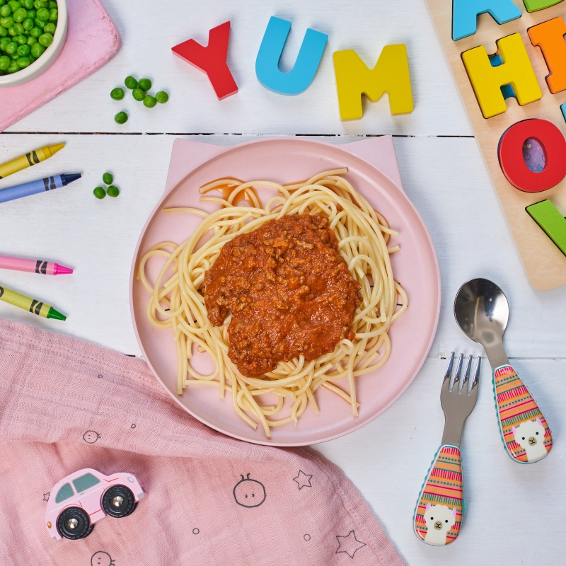spaghetti Bolognese early years food by annabel karmel