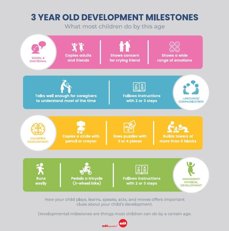 3 year old development milestones by Annabel Karmel