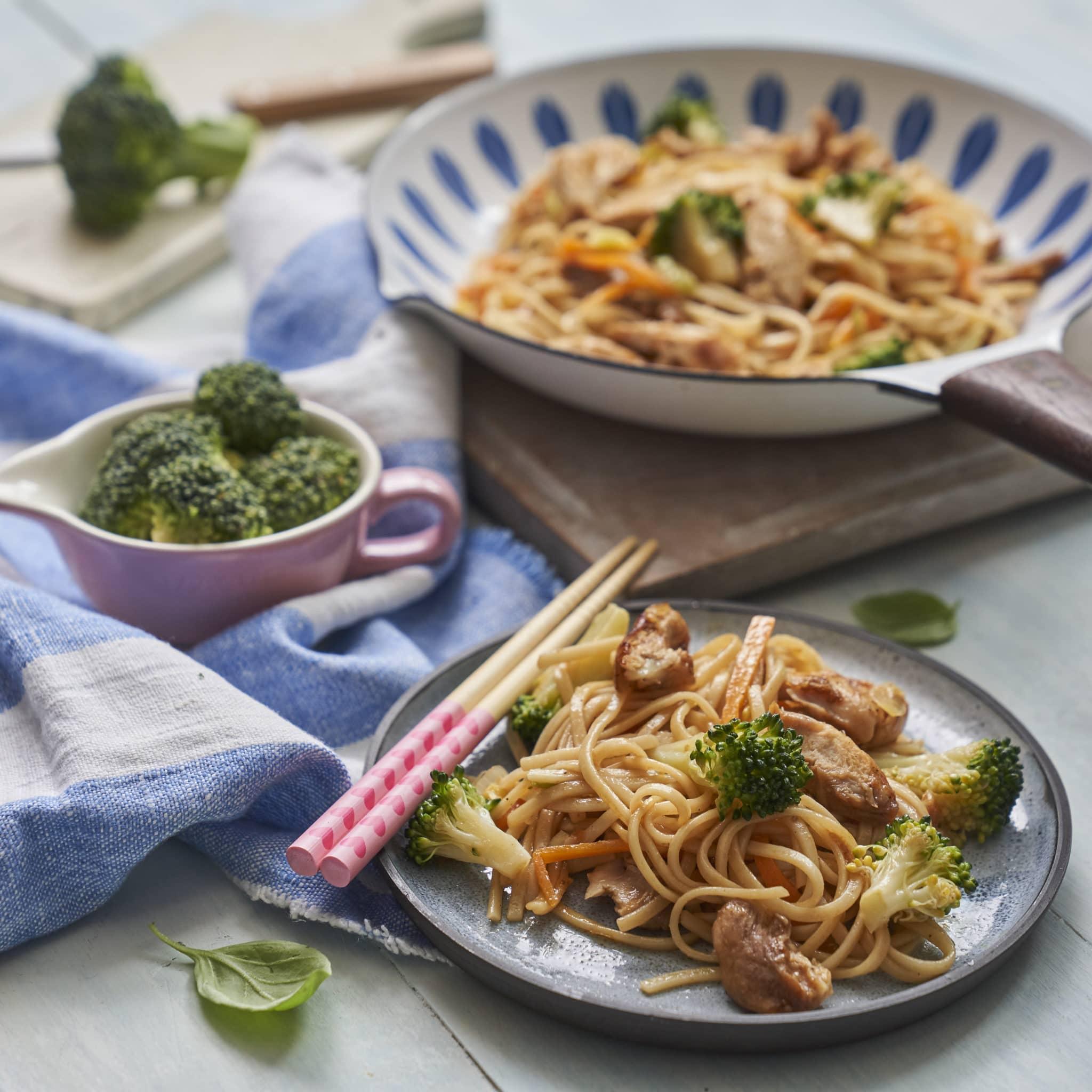 teriyaki chicken noodles recipe by Annabel Karmel