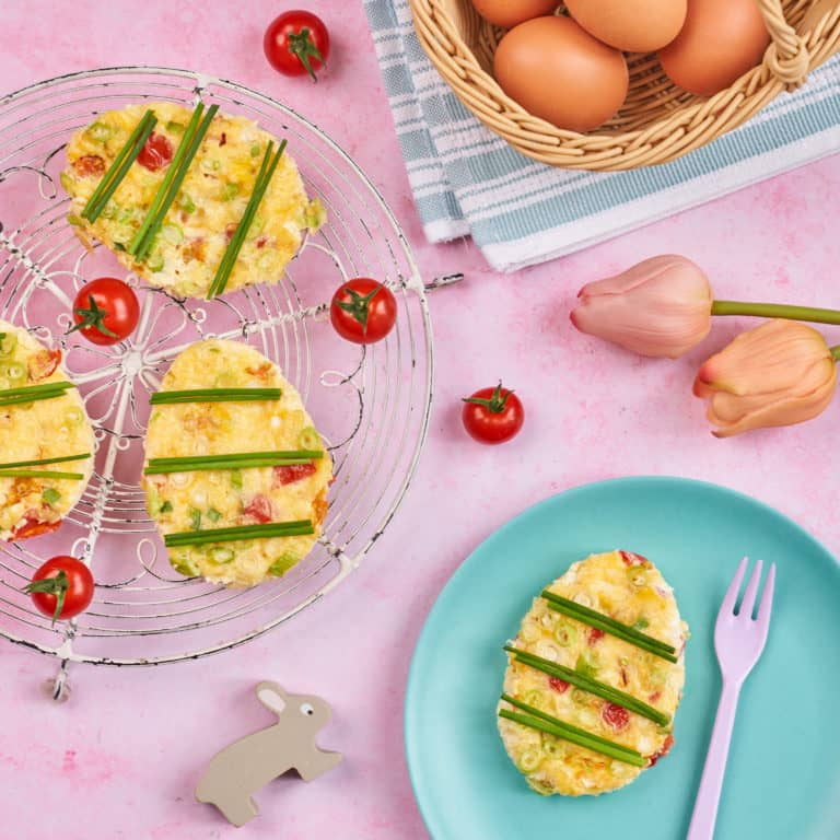 Piccolo Easter Egg Frittatas Recipe by Annabel Karmel