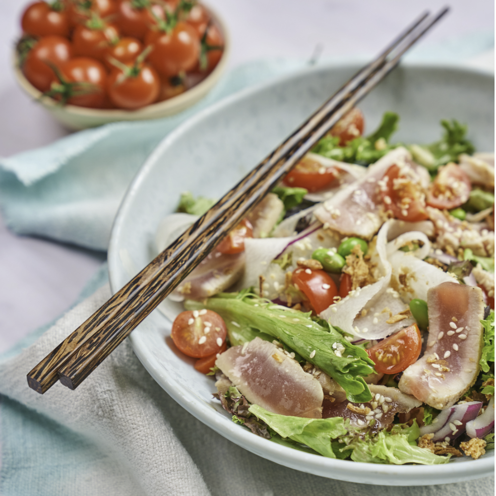 Japanese seared tuna salad recipe by annabel karmel