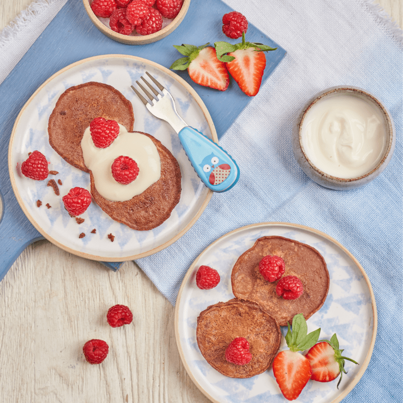 yoghurt pancakes with cocoa and banana recipe annabel karmel and itsy