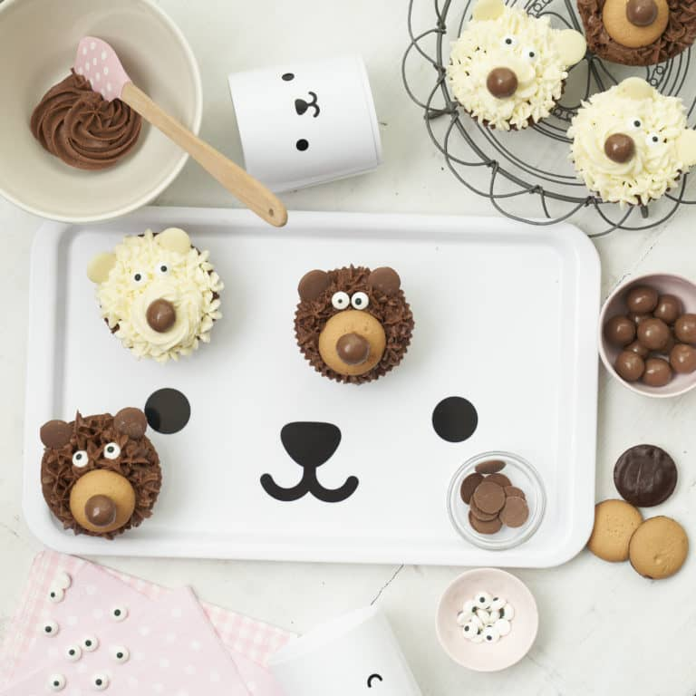 Chocolate Teddy Bear Cupcakes Recipe by Annabel Karmel