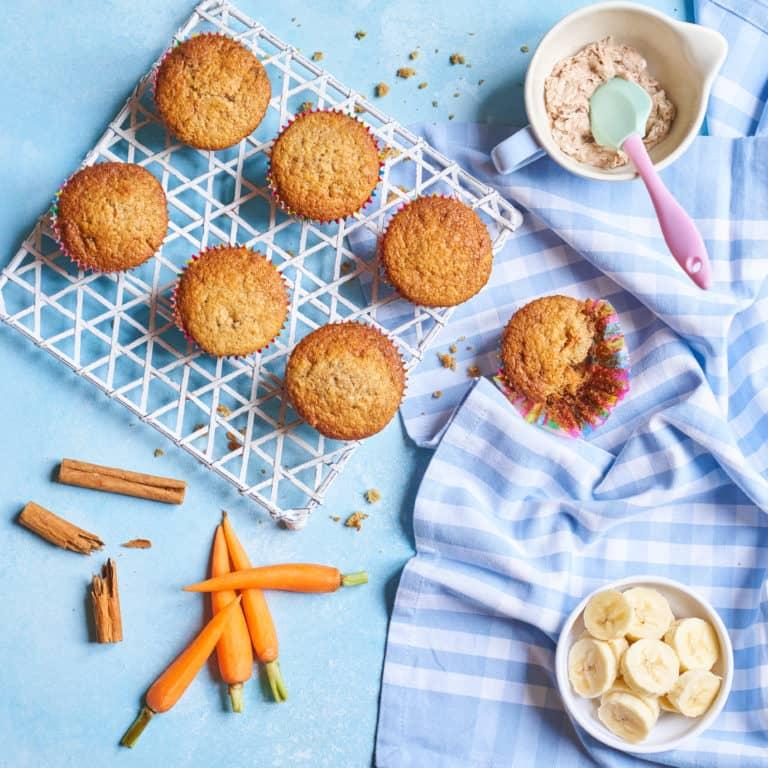 Carrot, Banana & Sultana Muffins Recipe by Annabel Karmel