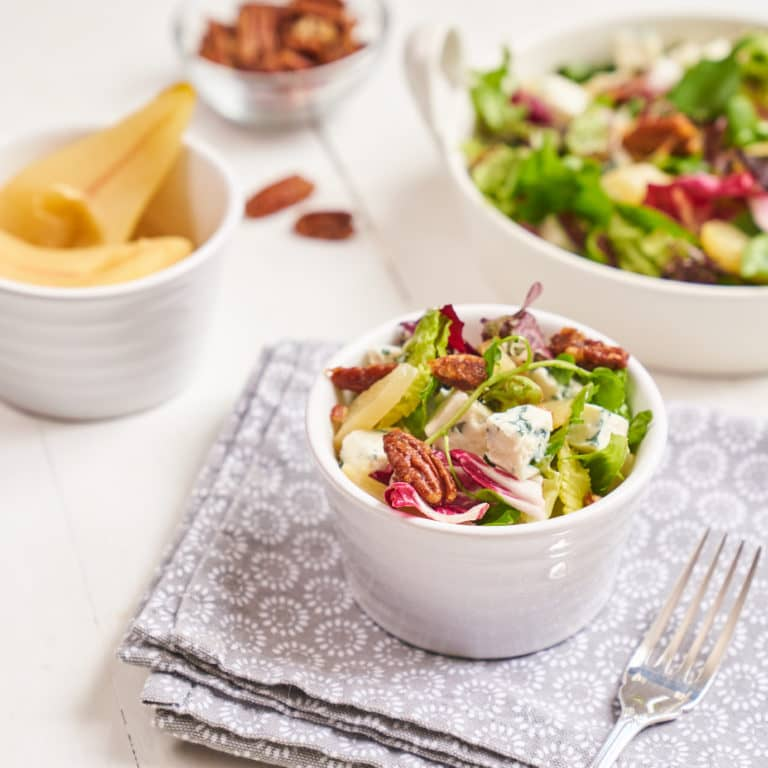 Blue Cheese Salad with Pears & Pecans Recipe by Annabel Karmel