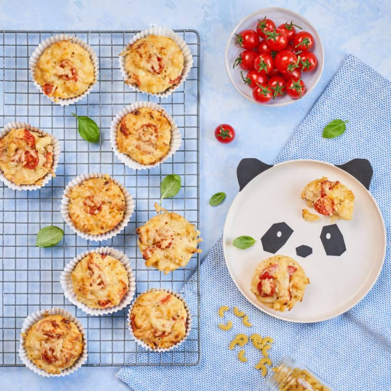 Macaroni & Cheese Muffins Recipe by Annabel Karmel