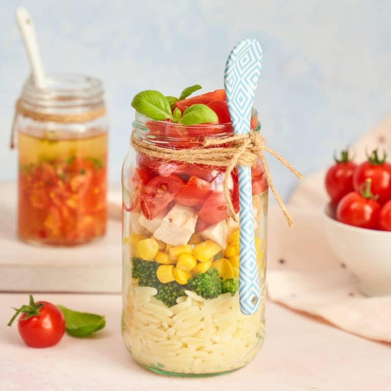 Orzo Rainbow Salad Recipe by Annabel Karmel
