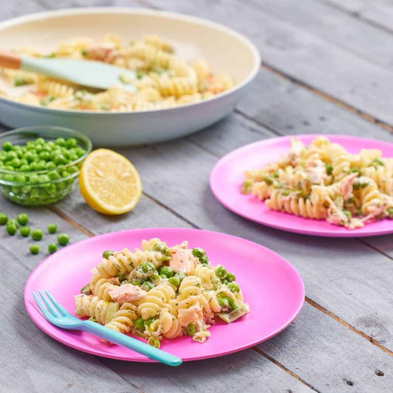 Salmon and Pea Pasta Recipe by Annabel Karmel