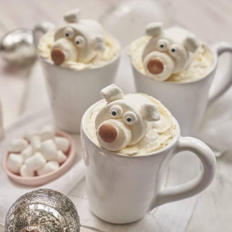 Hot Chocolate with Marshmallow Polar Bears recipe by Annabel Karmel