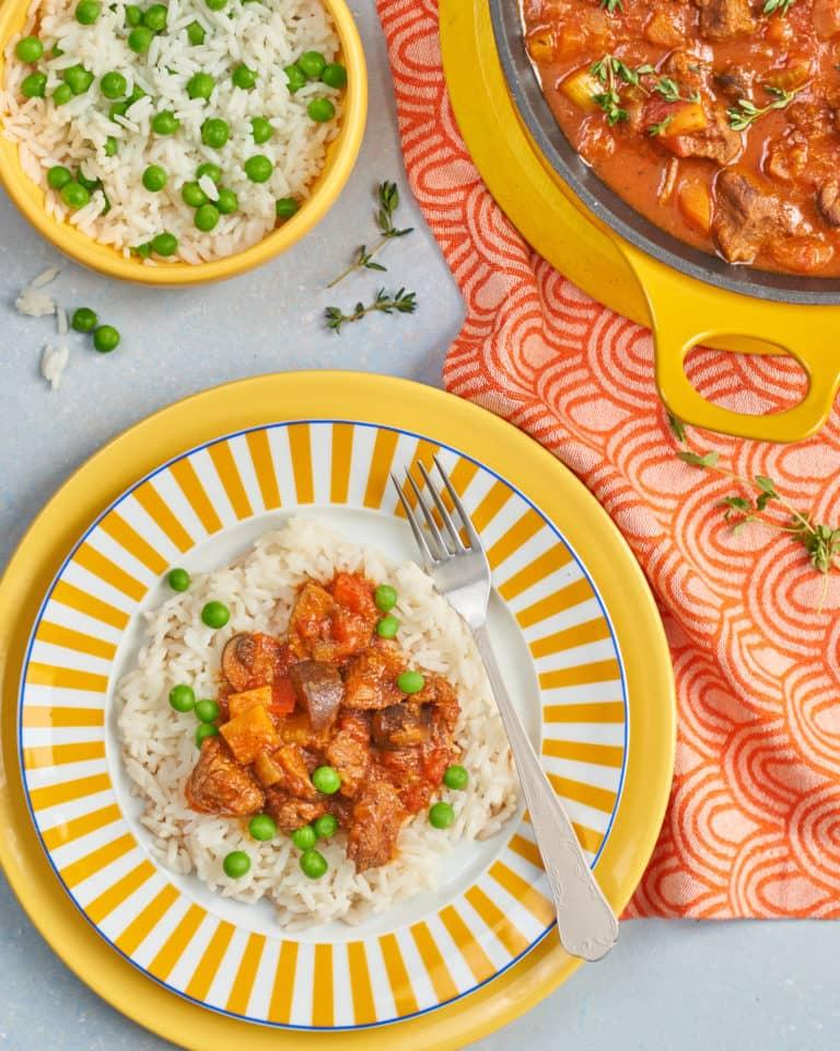 Tasty Beef Casserole with 7 Veggies Recipe by Annabel Karmel
