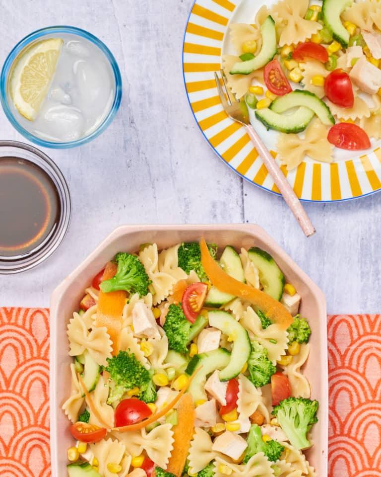 Rainbow pasta salad Recipe by Annabel Karmel