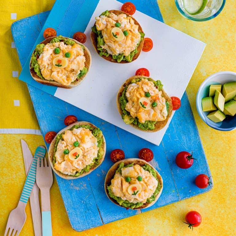 Scrambled Egg & Guacamole Teddy Bears recipe by Annabel Karmel