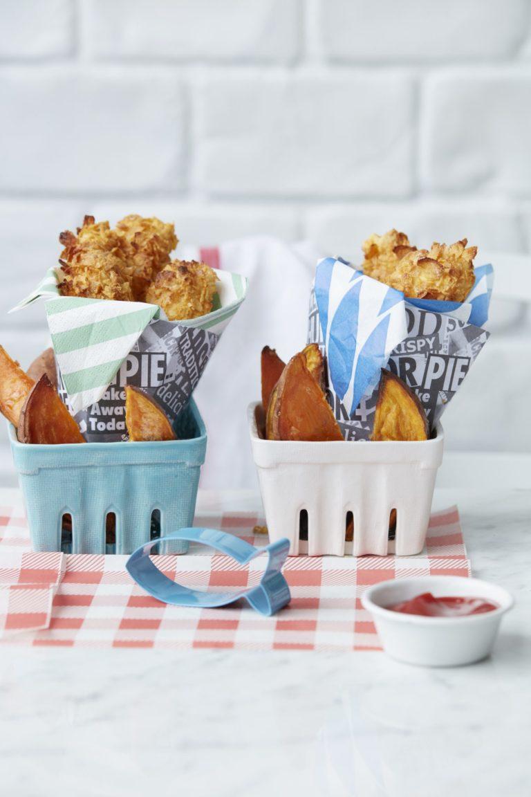 Crispy Cod with Sweet Potato Chips recipe by Annabel Karmel