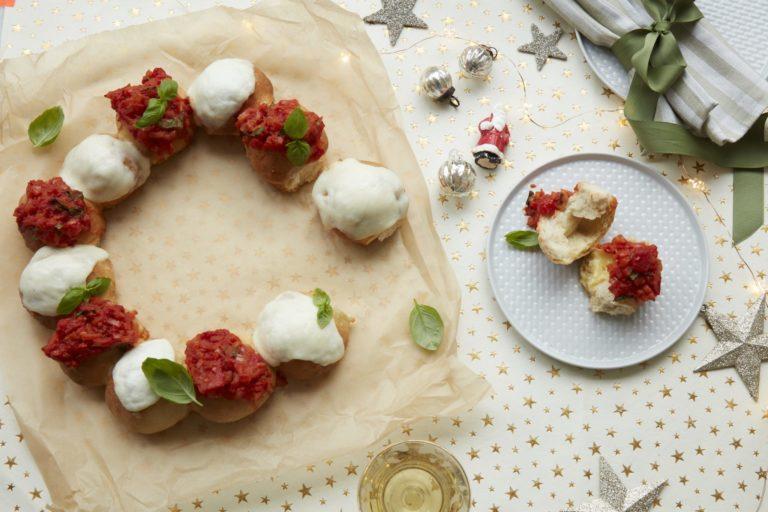 Doughball Pizza Wreath Recipe by Annabel Karmel