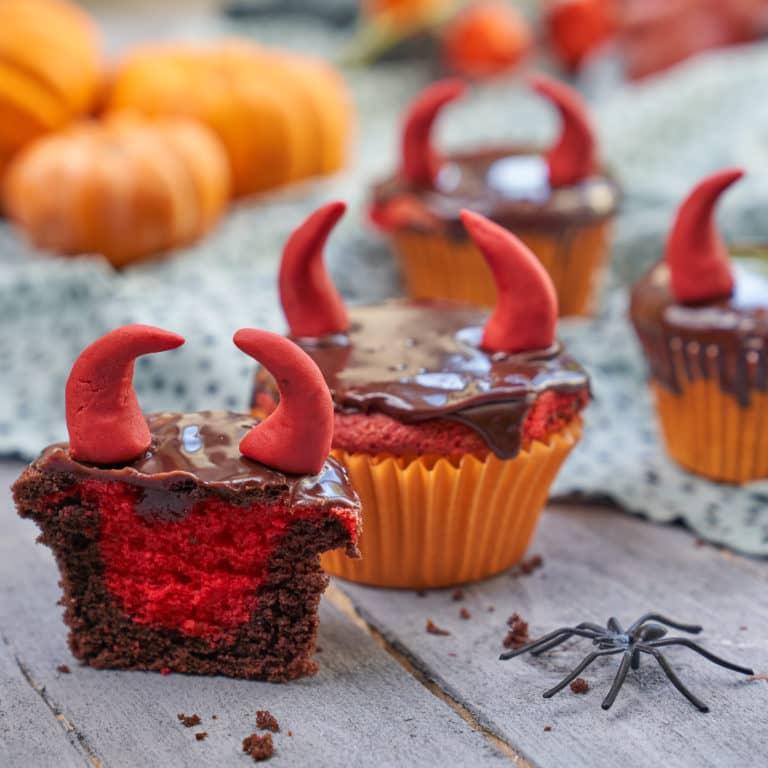 Devil Halloween Cupcakes recipe Annabel Karmel
