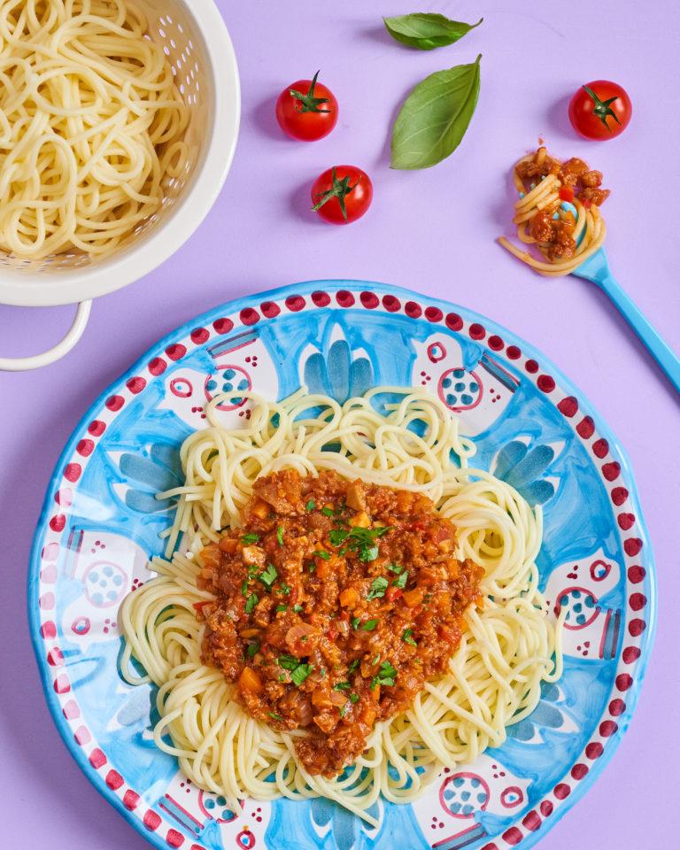 Tasty Meatless Bolognese recipe by Annabel Karmel