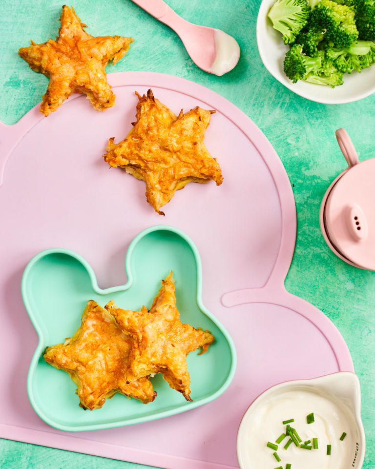 Cheesy Carrot Stars recipe by Annabel Karmel